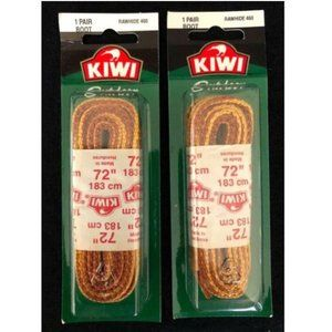 """KIWI Outdoor 72"""" Boot Laces 2-Pair Rawhide 460 NEW"""